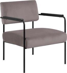Ízléses fotel Nineveh - világos rózsaszín