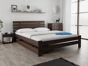 Magnat PARIS magasított ágy 120 x 200 cm, diófa Ágyrács: Ágyrács nélkül, Matrac: Coco Maxi 23 cm matraccal