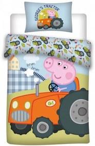 Peppa malac ovis ágyneműhuzat traktor 100x135cm 40x60cm