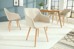 Stílusos szék Norway, krémszínű