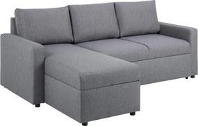 Sarok ágyazható kanapé Amadeus 218 cm - világos szürke