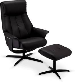 Relax fotel lábtartóval Abdu fekete