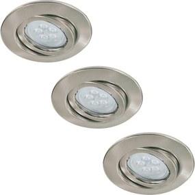 Paulmann Paulmann 92028 - KÉSZLET 3x LED beépíthető lámpa QUALITY LINE 3xGU10-LED/6,5W BA0188