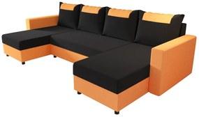 COOPER U ágyazható sarok ülőgarnitúra, 298x144, rainbow 15/rainbow 64