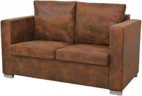 2-személyes, műbőr kanapé 137 x 73 x 82 cm