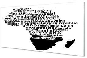Üvegképek Fekete-fehér felirat 140x70 cm