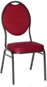Minőségi szék fémből - MONZA, piros