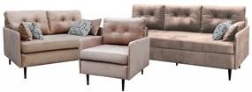 Arzénia ülőgarnitúra, nappali bútor gr005 (világos nude)