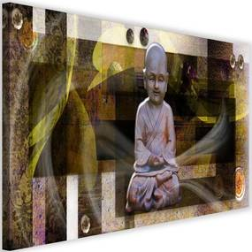 Modern kép 120x80cm – Buddha With Geometric Shapes 2