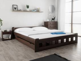 Naomi magasított ágy 180x200 cm, diófa Ágyrács: Deszkás ágyráccsal, Matrac: Deluxe 15 cm matraccal