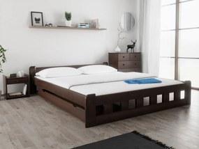 Naomi magasított ágy 180x200 cm, diófa Ágyrács: Lamellás ágyráccsal, Matrac: Matrac nélkül