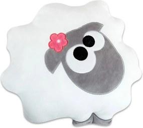 Gyermek kispárna és játék egyben, Bárányka fehér 40x40 cm