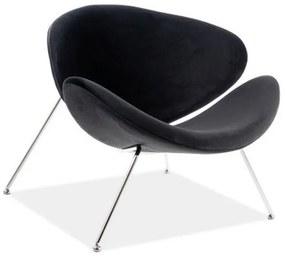 GENERAL Velvet fotel, 84x72x49, bluvel 19/króm