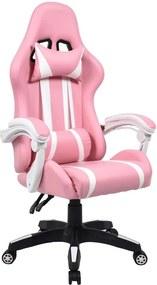 Pinky K64_137 Forgószék - rózsaszín-fehér