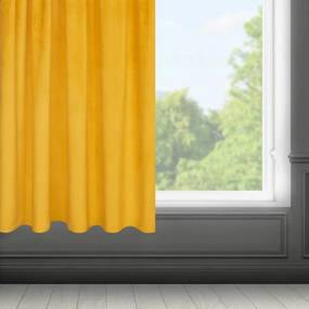 Fargo bársony sötétítő függöny Mustársárga 140 x 175 cm - HS373586
