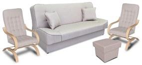 Megan garnitúra, ágynemű tartós bútor,   gr049 (drapp)