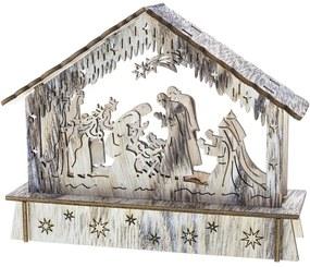 Retlux RXL 336 karácsonyi dekoráció, jászol, 6 LED, meleg fehér