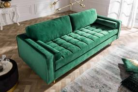 Kanapé Cozy Velvet 225 smaragd