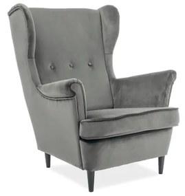 ARISTO Velvet fotel, 81x101x85, bluvel 14