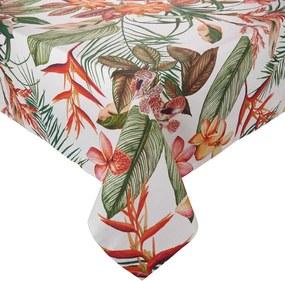 LOMBOK pamut asztalterítő, trópusi mintával 300x150 cm