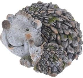 Kerti dekoráció Sündisznó család, 26 cm