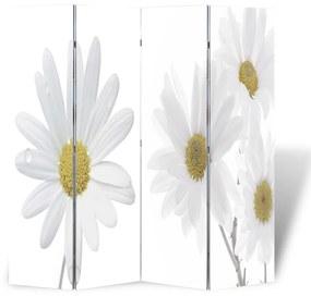 vidaXL virágmintás paraván 160 x 170 cm