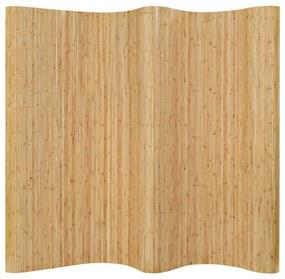 vidaXL természetes színű bambusz paraván 250 x 165 cm