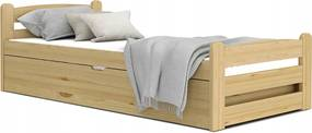 GL DÁVID felnyitható ágyneműtartós ágy 90x200 - borovi