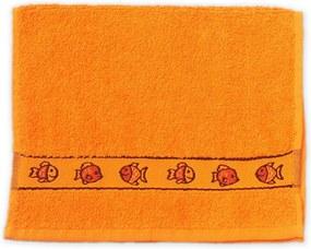 KIDS narancssárga gyerek törölköző 30x50 cm