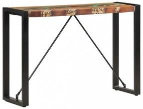 Tömör újrahasznosított fa tálalóasztal 110 x 35 x 76 cm
