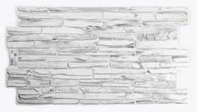3D PVC falpanel Világosszürke palakő mintás