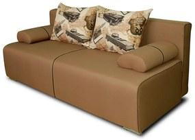 Clasic ágyazható, karfa nélküli kanapé 190 x 135 cm. a   ka031 (szürke)