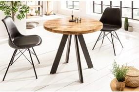 IRON CRAFT mangó kerek étkezőasztal 80cm