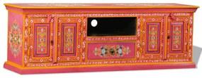 vidaXL kézzel festett pink, tömör mangófa TV-szekrény