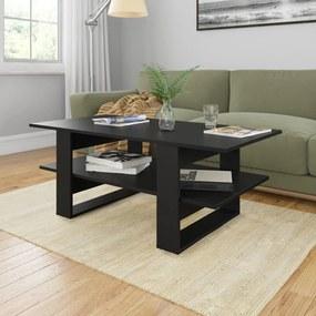 vidaXL fekete forgácslap dohányzóasztal 110 x 55 x 42 cm