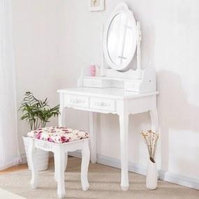 Minőségi öltözőasztal forgatható tükörrel és székkel