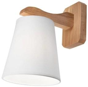 Lamkur Fali lámpa ANDREA 1xE27/60W/230V tölgy/fehér LA41155