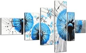 Órás falikép Gyönyörű kék pitypangok 180x100cm ZP4027A_6E