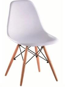 Modern szék DIDIER bükk + fehér