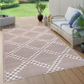 Barna PP kültéri szőnyeg 120 x 180 cm