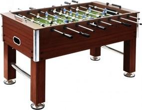 Barna acél csocsóasztal 140 x 74,5 x 87,5 cm