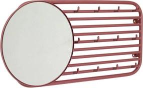 Prio piros falifogas 12 akasztóval és tükörrel - Hübsch