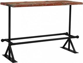 Többszínű tömör újrahasznosított fa bárasztal 150 x 70 x 107 cm