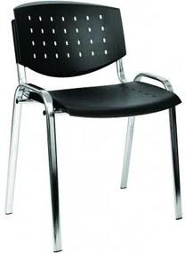 Taurus PC Layer fémvázas szék műanyag ülőlappal és lyukacsos műanyag hátlappal