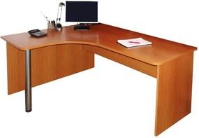 Grafik L-alakú sarok számítógépasztal (jobbos)