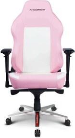 ArenaRacer Titan – Rózsaszín/Fehér gamer szék