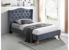 CADERA Velvet kárpitozott ágy, 120x200, bluvel 14