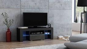 RTV Milano 110, fekete / szürke – TV-asztal