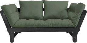 Beat Black/Olive Green zöld kinyitható kanapé - Karup Design