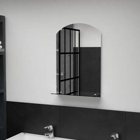 vidaXL edzett üveg falitükör polccal 40 x 60 cm